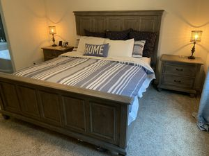 Cal King Bed Set and Temper Pedic Mattress for Sale in Clovis, CA