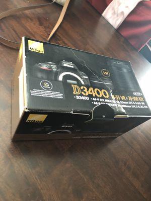 Nikon d3400 18-55 mm + 70-300 bundle for Sale in Dallas, TX