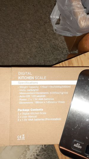 Digital kitchen scale. for Sale in Apple Valley, CA