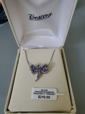 Silver Tanzanite/Duamond Dragonfly pendant and Necklace for Sale in Celebration, FL
