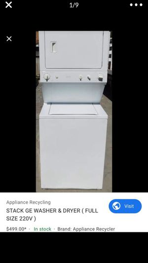 GE stacked washer and dryer for Sale in Perris, CA