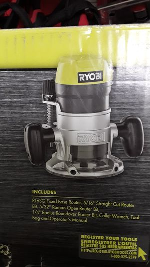 Ryobi 1-1/2 Peak HP router kit for Sale in Glendale, AZ