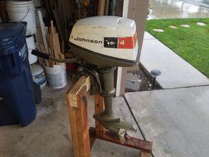 Johnson 4hp outboard motor for Sale in Huntington Beach, CA