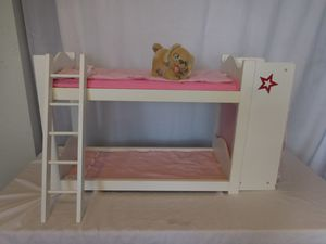 Badger Basket Doll Bunk Bed with Armoire Pink 91856 one padding for Sale in Lake Elsinore, CA