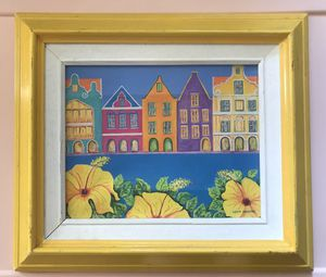 Tropical framed canvas painting for Sale in Boca Raton, FL