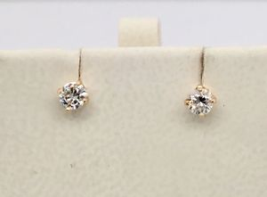 14KT YELLOW GOLD DIAMOND STUD EARRINGS for Sale in Sun City, AZ
