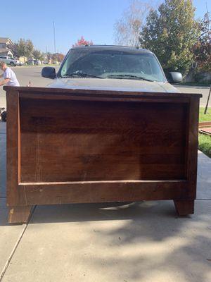 Wooden queen bed frame for Sale in Hughson, CA