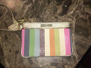 Coach Stripe Wristlet for Sale in Monticello, MN