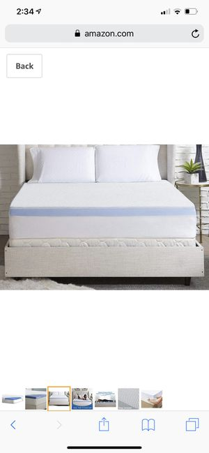 """Serta 3"""" Lasting Dream Plus Gel-Infused Memory Foam Mattress Topper, King with cover for Sale in Las Vegas, NV"""