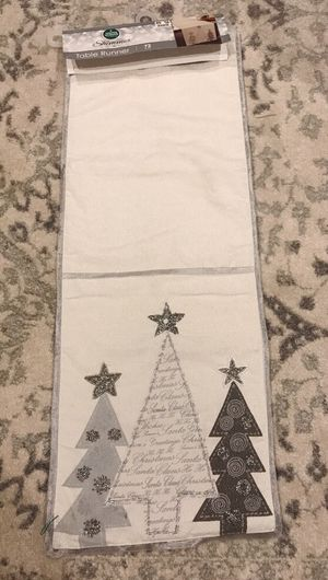 """Christmas Table Runner 72"""" Beige, white silver Brand New for Sale for sale  Tacoma, WA"""