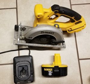 DeWalt 18v circular saw, Battery, and charger for Sale in Virginia Beach, VA