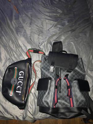 Gucci supreme bookbag and fannybag for Sale in Monroe Township, NJ