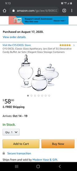 Apothecary Jars/Containers for Sale in Denver,  CO