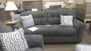 Grey fabric sofa couch with pillows for Sale in Portland, OR