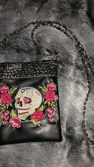 Sugar Skull Purse/Handbag with Chain Shoulder Strap for Sale in Farmington, IA