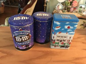 3 Collectible Candy Tins M&M and Hershey's for Sale in Gainesville, VA
