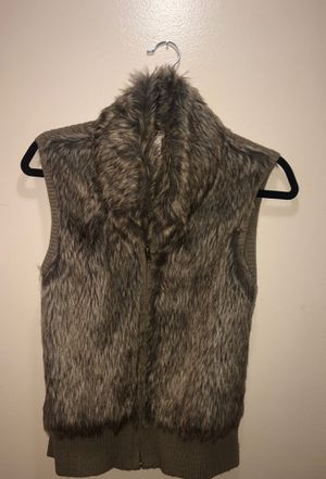 Fur vest coat jacket (medium) for Sale in Dearborn, MI