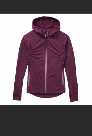 Athleta Half Mile Hoodie Jacket Full Zip Ruched Thumb holes Sz XS Plum Purple. Condition is Pre-owned. See pictures ask questions and make an offer! for Sale in Queens, NY