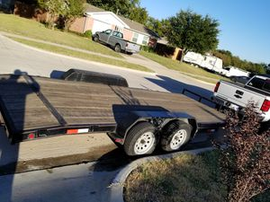 2015 bestbilt trailer 18ft dove tail trailer, car hauler for Sale in Dallas, TX