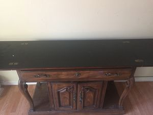Wood buffet table for Sale in Fresno, CA