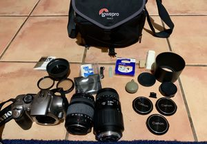 Canon digital camera with filters and extra lenses with filters for Sale in Scottsdale, AZ