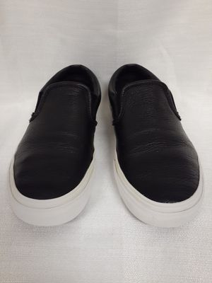 Black leather slip on Vans for Sale in Murrieta, CA