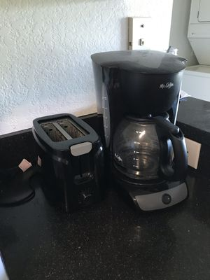 Coffee maker and toaster for Sale in Tampa, FL