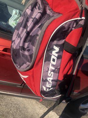 Easton softball baseball back pack bat bag for Sale in Livermore, CA