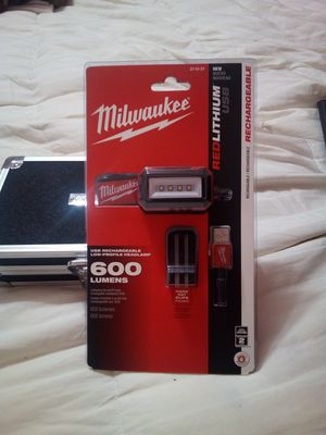 Milwaukee 600 Lumens Red Lithium, USB Rechargable, Low Profile Headlamp. Brand new factory sealed for Sale in Redwood City, CA