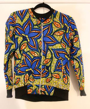 African Inspired Ankara Bomber Jacket For Women S/M(New and Unused) for Sale in Washington, DC
