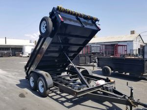 8x12 x 2 Dump Trailer with Bobcat Kit for Sale in Anaheim, CA