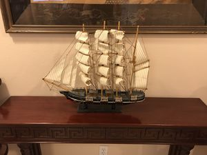 Beautiful Wooden Boat Model Sailing ⛵️ Ship Craft Model Decor for Sale in Tampa, FL