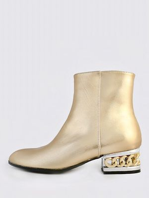 Metallic ankle boot with gold chain heel for Sale in Atlanta, GA