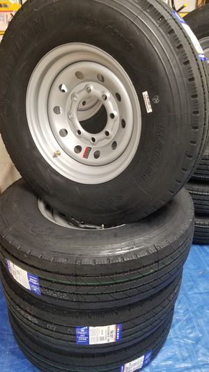 NEW 14PLY HEAVY-DUTY TRAILER TIRES AND WHEELS 8 LUG ST235/80R16 ONLY $180+ TAX for Sale in Douglasville, GA