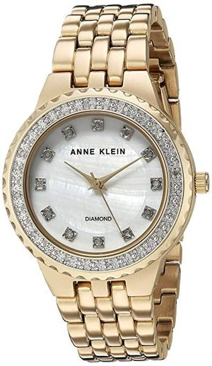 **CLEARANCE, NEW**Anne Klein Women's AK/2760MPGB Diamond-Accented Gold-Tone Bracelet Watch for Sale in Anaheim, CA