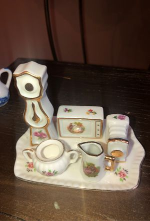 Antique Vintage Tharaud Limoges Fine China Porcelain Hand Painted Miniatures- High End Doll Furniture for Sale in Plainfield, IL