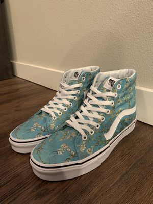 Vans sk8 hi Van Gogh almond blossom for Sale in Lacey, WA