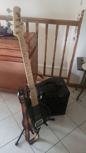 Guitar 5 String Bass and amp for Sale in Littleton, CO