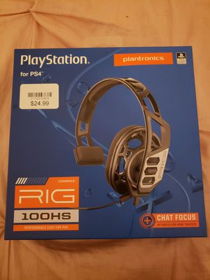 PS4 - RIG 100HS HEADPHONES - BRAND NEW for Sale in Sacramento, CA