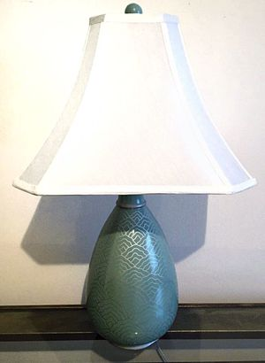 Large Lamp Teal Blue and Gold for Sale in Crofton, MD