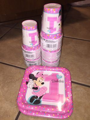 Minnie Mouse 1st Birthday party set Brand New for Sale in San Antonio, TX