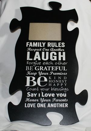 Puzzle Peice Picture Frame for Sale in London, KY