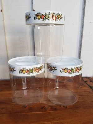 3 Pyrex Ware Glass Canisters for Sale in Whittier, CA