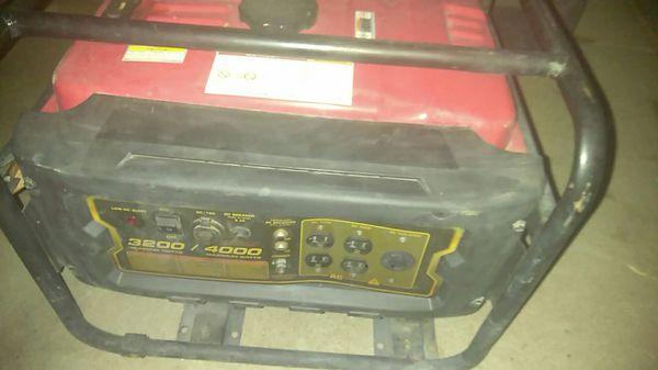 4000 watt 3200 start Watts generator
