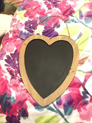 Heart shaped chalk board for Sale in Lexington, NC