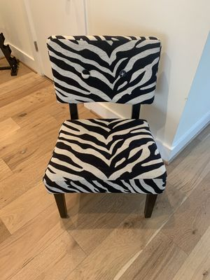 Zebra Accent Chair for Sale in Washington, DC