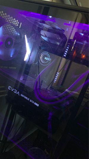 Custom built PC - Gtx 1060 6GB, Corsair ddr4 8gb ram 2 sticks, 250gb Samsung ssd, i7 7700k CPU @ 4.2GHz , NZXT Kraken Water cooler.EVGA 650 watt gold for Sale in Palmdale, CA