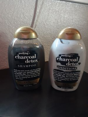 Ogx Purifying Charcoal Detox Shampoo and Conditioner Both for $8 for Sale in Phillips Ranch, CA