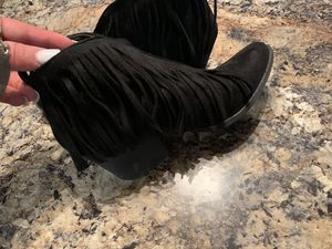 Black fringe booties for Sale in Porter, TX