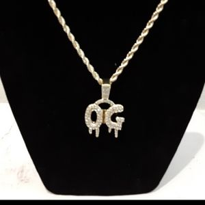 14k Gold-plated CZ Pendant With Necklace for Sale in Bloomington, CA